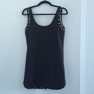 NBD Revolve little black dress with pearls XS